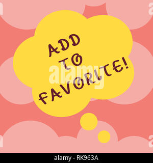 Writing note showing Add To Favorite. Business photo showcasing Like a page social network community stay always connected Floral Shape Thought Speech - Stock Photo