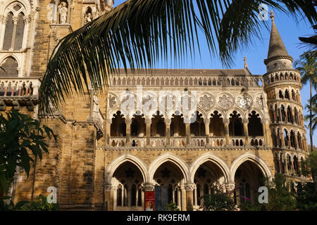 Partial view of colonial-era Mumbai University, Fort area, Mumbai, India - Stock Photo