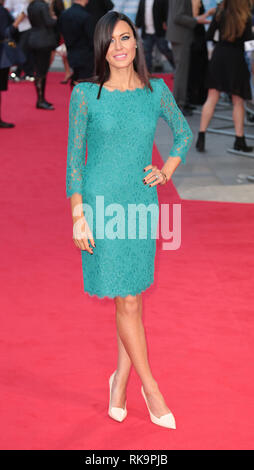 22-09-14: 'What We Did on Our Holiday' - World Premiere, Odeon West End, London Linzi Stoppard arrives - Stock Photo