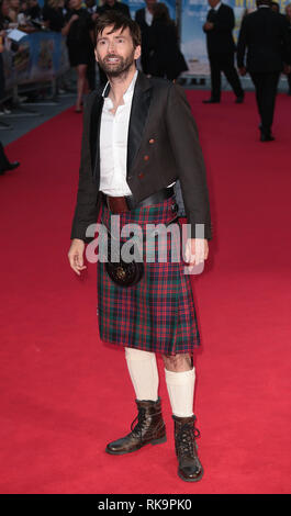 22-09-14: 'What We Did on Our Holiday' - World Premiere, David Tennant arrives - Stock Photo