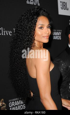 California, USA.  9th Feb, 2019. Ciara at arrivals for 2019 Pre-GRAMMY Gala and GRAMMY Salute, The Beverly Hilton, Beverly Hills, CA February 9, 2019. Credit: Elizabeth Goodenough/Everett Collection/Alamy Live News - Stock Photo