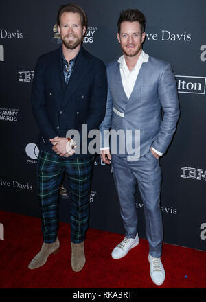 California, USA. 9th Feb 2019.  Singers Brian Kelley and Tyler Hubbard of Florida Georgia Line arrive at The Recording Academy And Clive Davis' 2019 Pre-GRAMMY Gala held at The Beverly Hilton Hotel on February 9, 2019 in Beverly Hills, Los Angeles, California, United States. (Photo by Xavier Collin/Image Press Agency) Credit: Image Press Agency/Alamy Live News - Stock Photo