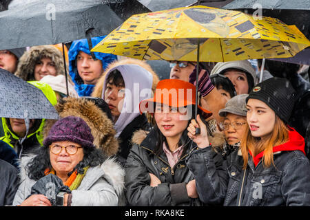 London, UK. 10th Feb 2019. The festival in Trafalgar Square. Chinese New Year Celebrations in Soho, London. Credit: Guy Bell/Alamy Live News - Stock Photo