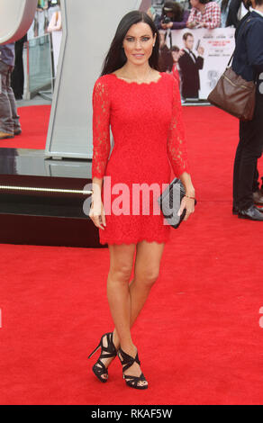 LONDON, ENGLAND, UK - MAY 27 - Linzi Stoppard attends 'Spy' European Premiere at Odeon Leicester Square on May 27, 2015 in London, England - Stock Photo