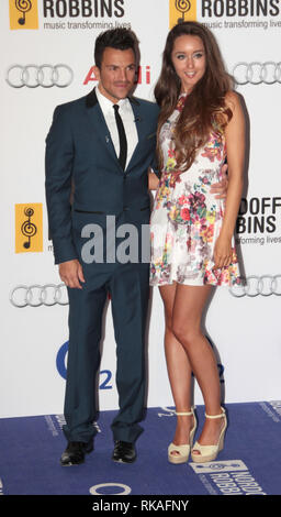 Jun 28, 2013 - London, England, UK - Peter Andre and Emily MacDonagh arrives at the Nordoff-Robbin Silver Clef Awards, held at the Hilton Hotel, Park  - Stock Photo