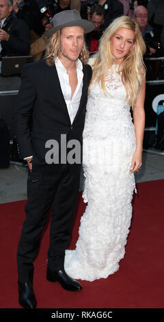 Dougie Poynter; Ellie Goulding arrives at the 2014 GQ Man of the Year Awards at The Royal Opera House in Covent Graden, London - Stock Photo