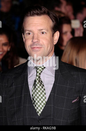 Nov 12, 2014 - 'Horrible Bosses 2'  World Premiere Jason Sudeikis arrives for the world premiere of Horrible Bosses 2 at Odeon West End,  Leicester Sq - Stock Photo
