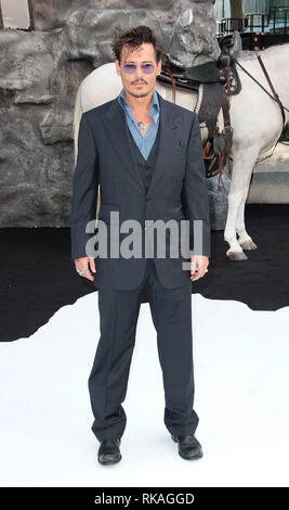 21st July 2013 - The Lone Ranger UK Premiere, Odeon Leicester Square, London PHOTO SHOWS: Johnny Depp - Stock Photo
