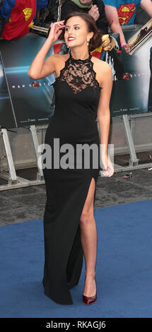 Jun 12, 2013 - London, England, UK - Man of Steel European Premiere, Empire, Leicester Square  Photo Shows: Lucy Watson - Stock Photo