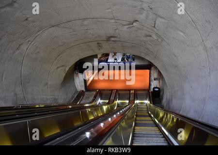 Washington, D.C, USA - July 2, 2017: Washington DC Metro System - Stock Photo