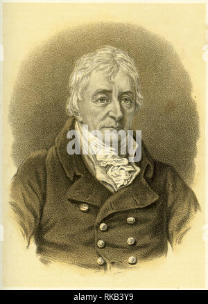 Engraving of Henry Grattan (1746 – 1820) Irish politician and member of the Irish House of Commons, who campaigned for legislative freedom for the Irish Parliament. - Stock Photo