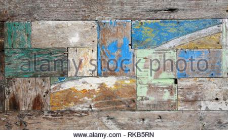 Vintage weathered wood plank - Stock Photo