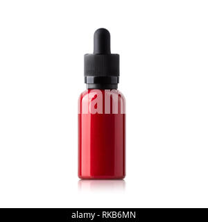 Vape red car paint bottle - Stock Photo