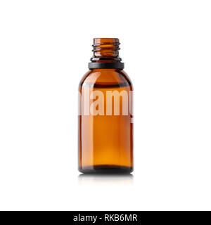 Glass brown bottle - Stock Photo