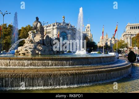 Banco de España, Plaza Cibeles, Madrid, Spain, Europe - Stock Photo
