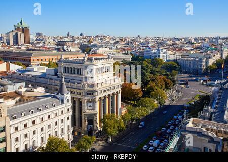Instituto Cervantes, Calle de Alcalá, Madrid, Spain, Europe - Stock Photo