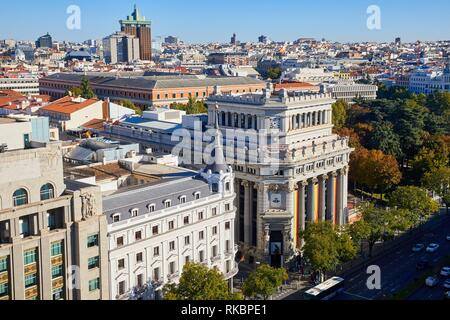 Instituto Cervantes, Calle de Alcalà, Madrid, Spain, Europe - Stock Photo
