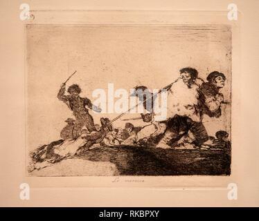 The Disasters of War, Francisco de Goya, Museo Nacional Centro de Arte Reina Sofia, Madrid, Spain, Europe - Stock Photo