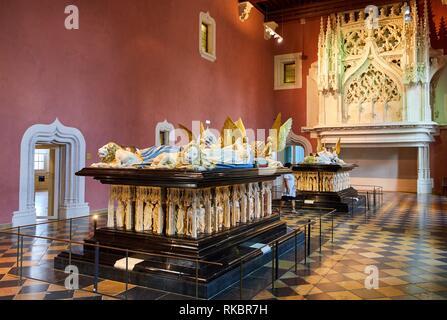 Salle des gardes, Tombs of the Ducs de Bourgogne, Fine Arts Museum, Musée des Beaux-Arts, Dijon, Côte d´Or, Burgundy Region, Bourgogne, France, Europe - Stock Photo