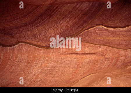 Rock formations in Egypt's Coloured Canyon, located near the Sinai town of Nuweiba, Egypt. (Photo/Hasan Jamali) - Stock Photo