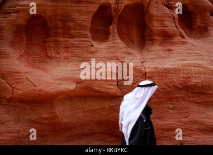 Rock formations in Egypt's Coloured Canyon, located near the Sinai town of Nuweiba, Egypt. (Photo/Hasan Jaali) - Stock Photo