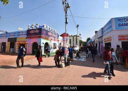 Kolkata, India. 10th February, 2019. Eleventh day of twelve days duration 43rd International Kolkata Book Fair 2019 at the Central Park, Salt Lake City, organised by the Publishers and Booksellers Guild. Credit: Biswarup Ganguly/Alamy Live News - Stock Photo