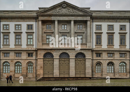 The University of Oporto, eighteenth century, one of the largest educational and scientific research institutions in Portugal and one of the 100 best  - Stock Photo