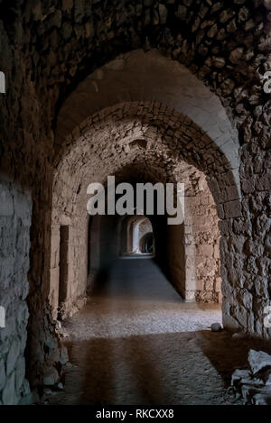 Al Karak kerak crusader castle fortress Jordan middle east - Stock Photo