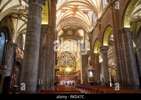 St. Peters Cathedral, Jaca, Huesca province, Aragón, Spain, Europe - Stock Photo