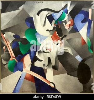 '''Udnie'', 1913. Francis Picabia. Centre George Pompidou. Musee National d'Art Moderne. Paris. France - Stock Photo