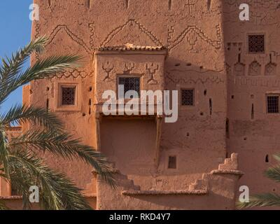 Morocco, Ouarzazate, Kasbah Taourit, the Kasbah of the Glaoui , ''king of the South'',... - Stock Photo
