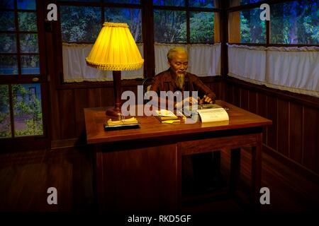 Vietnam, Hanoï, Ho Chi Minh Museum: Ho Chi Minh, at work in his office. The Ho Chi Minh Museum is located in Hanoi, Vietnam. It is a museum dedicated - Stock Photo