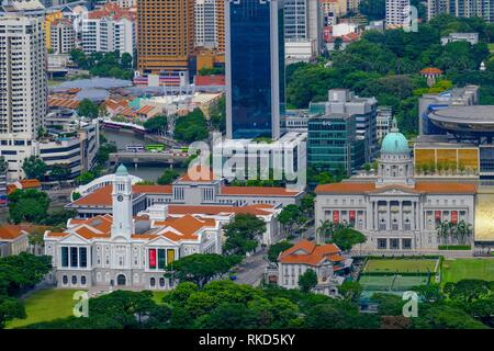 Singapore, The Downtown Core is the historical and downtown epicenter of the city-state of Singapore. It is one of the eleven planning areas located - Stock Photo