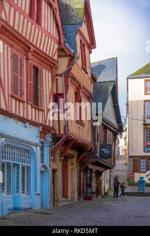 France.Pays de la Loire, Mayenne, Grande Rue at Laval. - Stock Photo