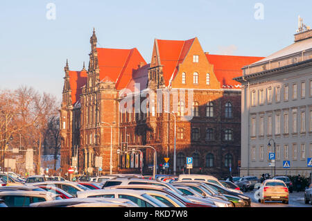 Exterior of the beautiful National Museum in Wroclaw, Lower Silesia,  Poland. - Stock Photo