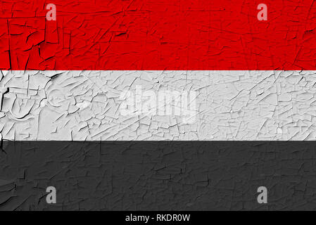 yemen painted flag - Stock Photo
