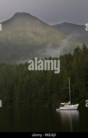Prideaux Haven, Desolation Sound, British Columbia, Canada - Stock Photo