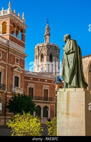 Archbishop Palace and Miguelete. Valencia. Comunidad Valenciana. Spain. - Stock Photo