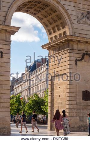 Porte Guillaume Place Darcy Dijon Cote-d'Or Bourgogne-Franche-Comte France. - Stock Photo