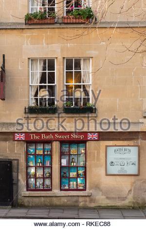 The Bath Sweet Shop Bath Avon England. - Stock Photo