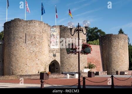 Chateau de Peronne Peronne Somme Hauts-de-France France. - Stock Photo
