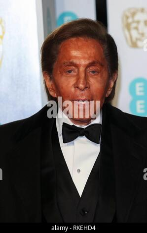 London, UK. 10th Feb, 2019. Valentino attends the British Academy Film Awards, BAFTAs, at Royal Albert Hall in London, England, on 10 February 2019. Credit: dpa picture alliance/Alamy Live News - Stock Photo