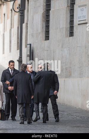 Rome, Italy. 11th Feb, 2019. entertainment Claudio Bisio during the filming in Montecitorio Credit: LaPresse/Alamy Live News - Stock Photo