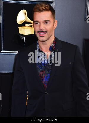 Los Angeles, USA. 10th Feb, 2019. Ricky Martin at 61st Annual Grammy Awards, Staples Center, Los Angeles, CA, United States February 10, 2019. Credit: Tsuni/USA/Alamy Live News - Stock Photo