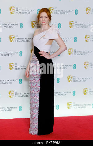 Eleanor Tomlinson Poses Backstage At The British Academy Film Awards On Sunday 10 February 2019 At Royal Albert Hall London Picture By Julie Edwards Stock Photo Alamy
