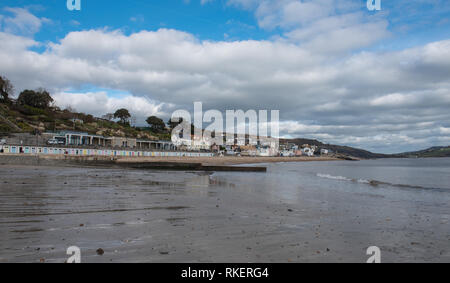 Lyme Regis, Dorset, UK. 11th February 2019. UK Weather: A bright day with plenty of sunny spells at the coastal resort town of Lyme Regis. Credit: PQ/Alamy Live News - Stock Photo