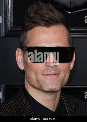 Los Angeles, United States. 10th Feb, 2019.LOS ANGELES, CA, USA - FEBRUARY 10: Kaskade arrives at the 61st Annual GRAMMY Awards held at Staples Center on February 10, 2019 in Los Angeles, California, United States. (Photo by Xavier Collin/Image Press Agency) Credit: Image Press Agency/Alamy Live News - Stock Photo