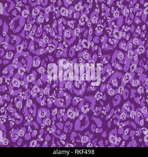 Violet leopard background. Abstract seamless pattern. Spotted animal skin - Stock Photo