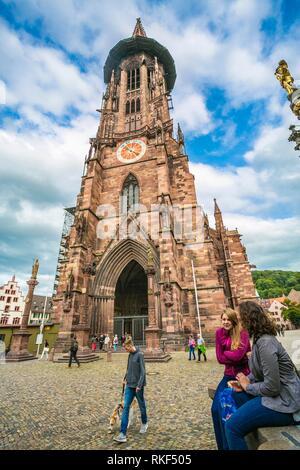 Freiburg Minster. Cathedral. Freiburg. Freiburg im Breisgau. Black Forest. Baden Wurttemberg. Germany - Stock Photo