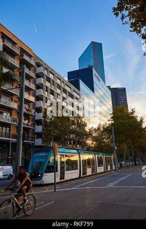 Meliá Barcelona Sky, Diagonal Avenue, Barcelona, Catalunya, Spain, Europe - Stock Photo